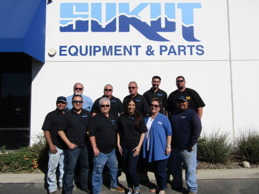 The Sukut Equipment & Parts team consists of (L-R, top row) Rick Evans, Dwayne Baker, Butch Welch, Abraham Rosales and Colby Coleman, and (L-R, bottom row) Mike Carbajal, Steve Moua, Charlie Newton, Brittany Moreno, Lois Canale and Javier Felix.