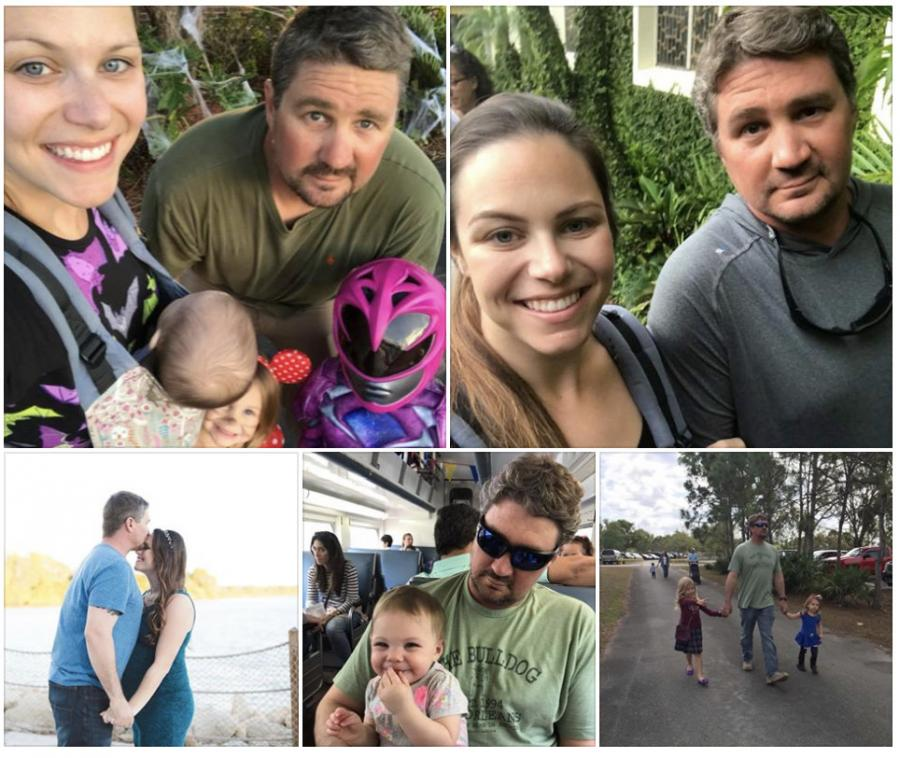 Brandon Brownfield, who worked for Maxim Crane Works, was the husband of almost four years to Chelsea Brownfield, and father to their three young daughters, the Miami Herald reported. (Photo Credit: Chelsea Brownfield)