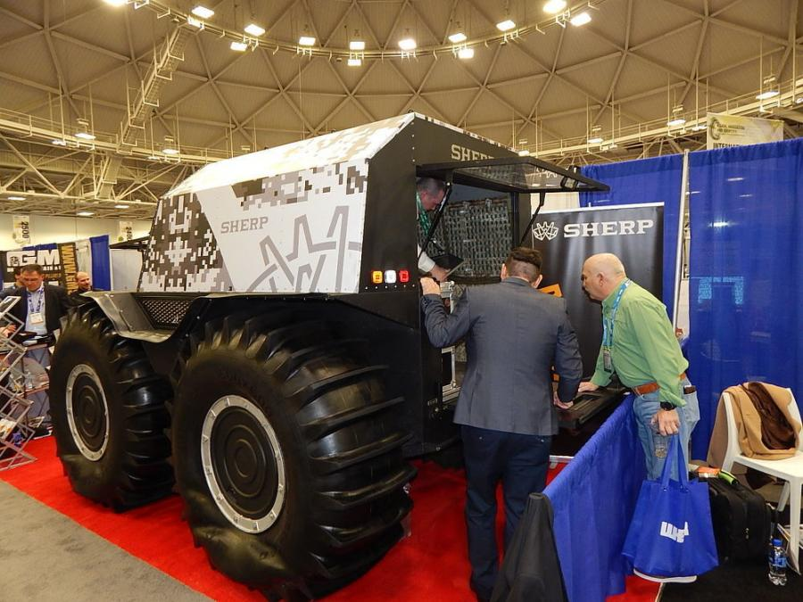 The Sherp all-terrain vehicle was a big draw at the show.
