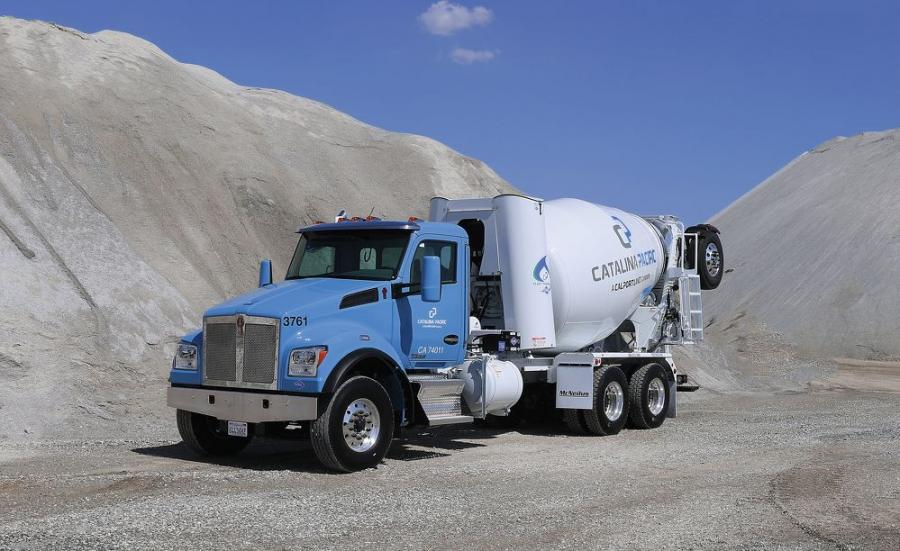 Starting in September of 2017 in California, Catalina Pacific, a CalPortland Company, began placing into service 118 new Kenworth T880S set-forward front axle mixers through NorCal Kenworth. The mixers use compressed natural gas (CNG) and are powered by the 8.9-liter Cummins Westport ISL G Near Zero NOx engine. The 320-hp mixers are outfitted with the 10-1/2 yard McNeilus Bridgemaster Transit mixer body, and operate in five locations across the Los Angeles metro area.