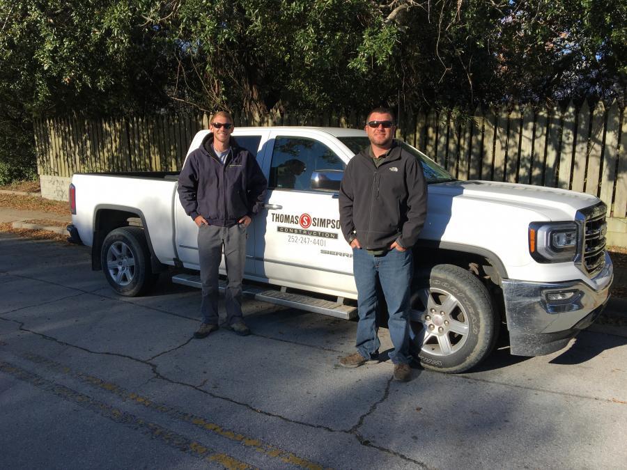 Nick (L) and Noah Simpson, both  of Thomas Simpson Construction Inc.