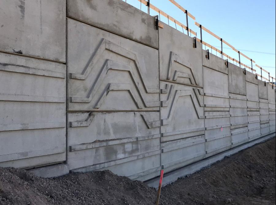 "The retaining walls are the first to feature the ""River Bank"" aesthetic treatment reflecting Laveen's agricultural heritage."