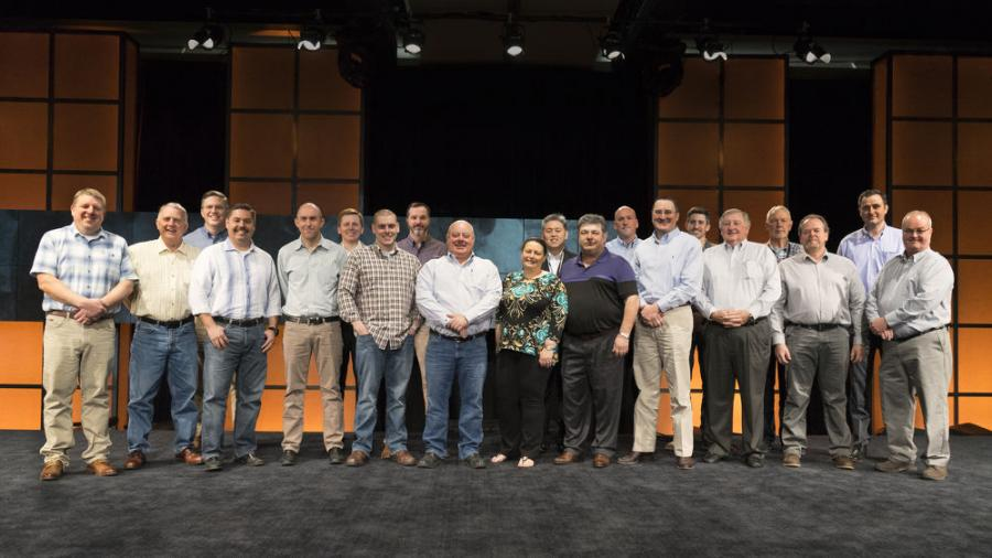 The top 10 Doosan dealer enterprises were recognized for their accomplishments in March during the 2018 Doosan dealer meeting in San Antonio, Texas.