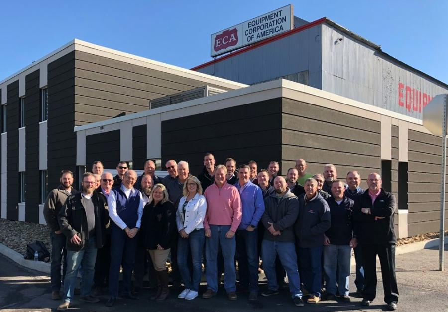 The ECA team gathered at the Coraopolis, Pa., headquarters for the 2018 Annual Sales Meeting.