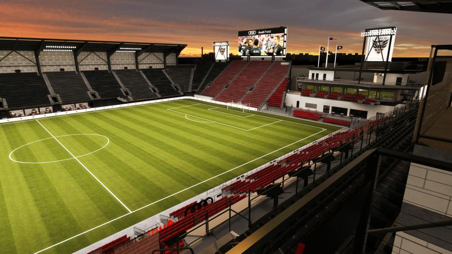 Crews Add Finishing Touches To Audi Field Construction Equipment Guide
