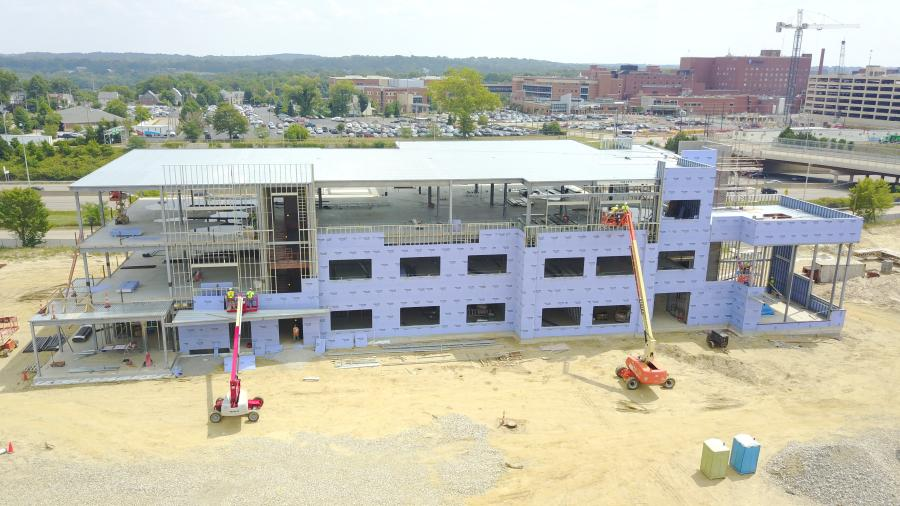 Crews hired by the Welty Building Company Ltd. (WBC) are months away from completing the construction of Stark State College's (SSC) new $15.7 million Akron location.