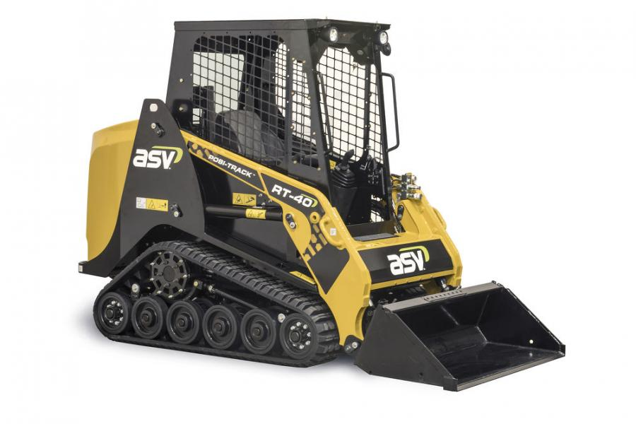 At just 4-ft. (1.2 m) wide, ASV's new RT-40 Posi-Track loader provides a productive alternative to walk-behind and stand-on mini skid-steer loaders.  (Photo Courtesy of ASV)