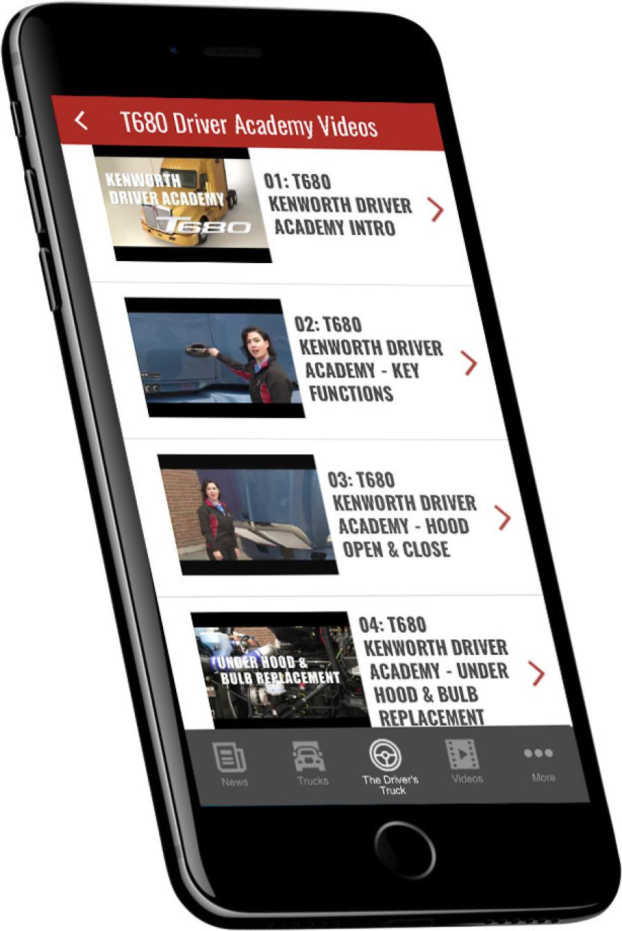 Seven new T680 videos covering fuel economy and driver assistance technologies have been added to the Kenworth Essentials App.