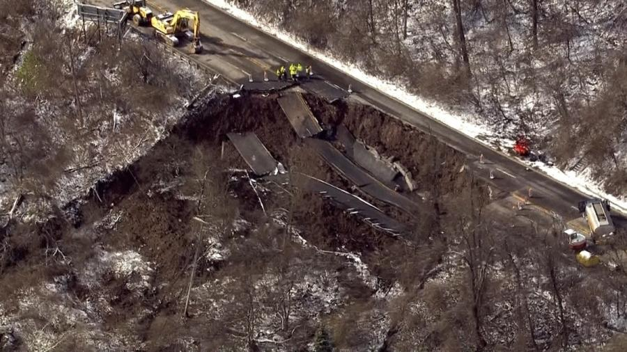 Around 21,000 cars use that portion of Route 30 each day, according to PennDOT, but the agency was able to clear drivers out of the way well before the road collapsed; it closed the eastbound lanes in the early afternoon on April 6 due to road buckling, Trib Live reported.