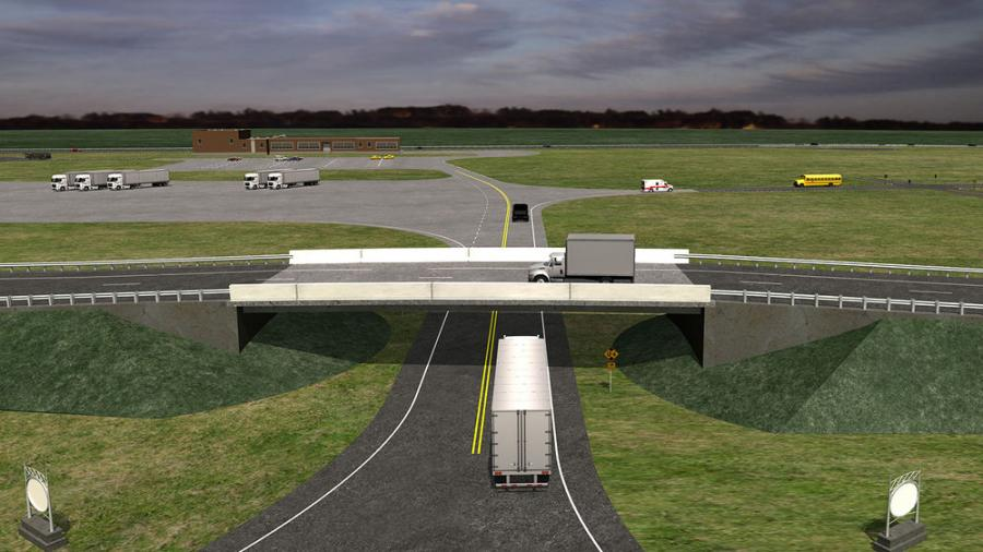Rendering of Test Track Entrance Area.