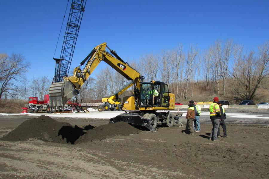 The Caterpillar M316F excavator is a popular and highly used model in the five boroughs of New York City.