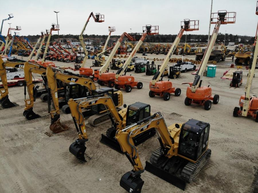 An extensive selection of lifts and excavators went on the auction block.
