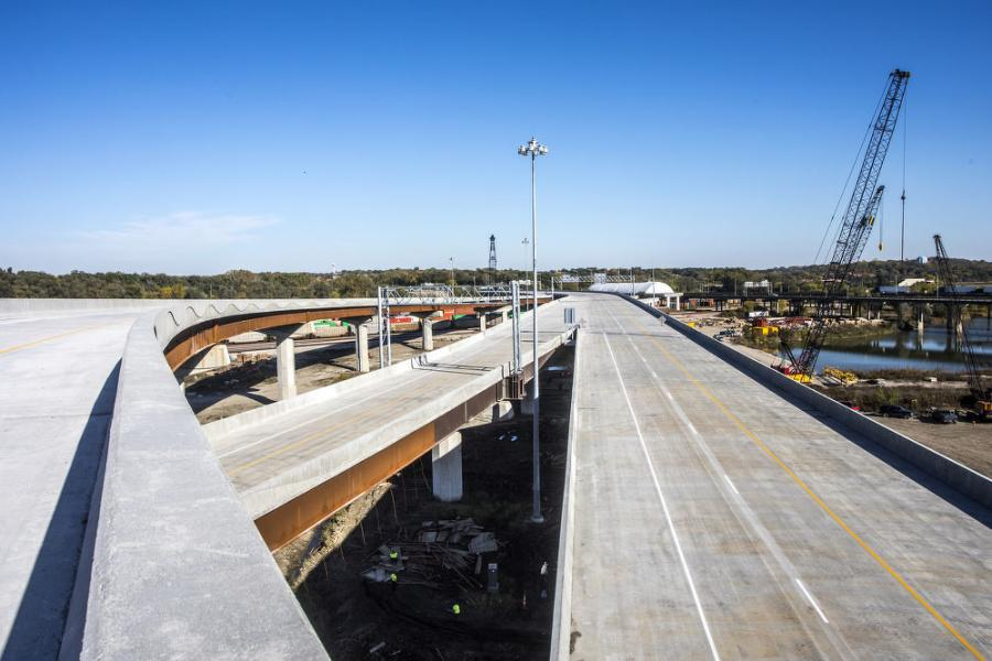 """During the Tier 1 evaluation of highway design alternatives, it was determined that a dual, divided freeway should be constructed along the 3-mile overlapping section of I-80 /I-29  between the west system interchange and the east system interchange,"" said  Scott Schram, P.E., Iowa DOT, District 4 engineer.