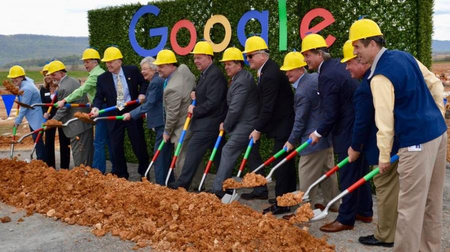 Officials break ground for Google's new data center in Bridgeport, Ala.