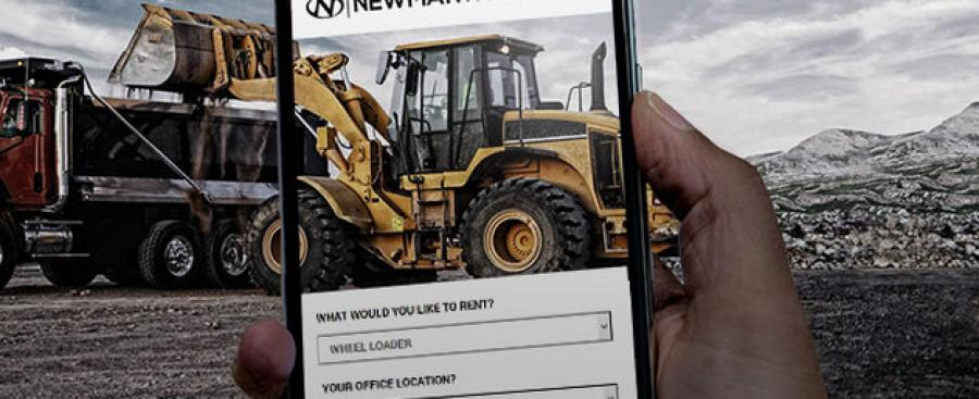 Newman Tractor has introduced an innovative online construction equipment rental quote tool.