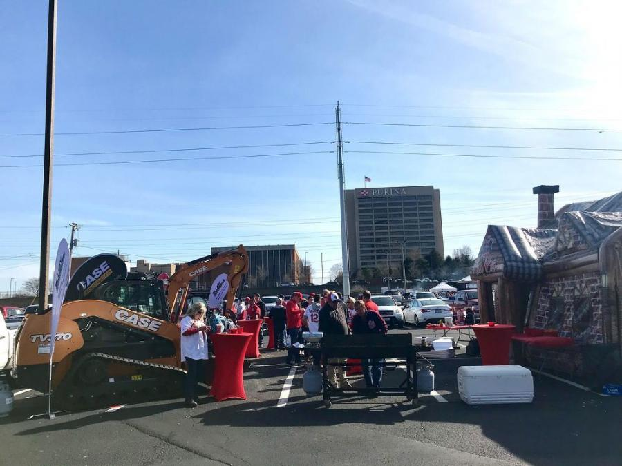 Guest's enjoyed the inflatable Irish pub at the Cardinals' home opener event.
