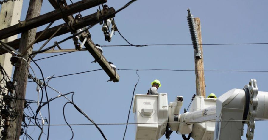 Officials said it could take 24 to 36 hours to fully restore power to more than 1.4 million customers as outrage grew across the island about the state of Puerto Rico's Electric Power Authority.