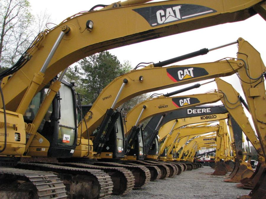 A great selection of Cat, Komatsu, Kobelco, John Deere and Doosan excavators were in this sale lineup.