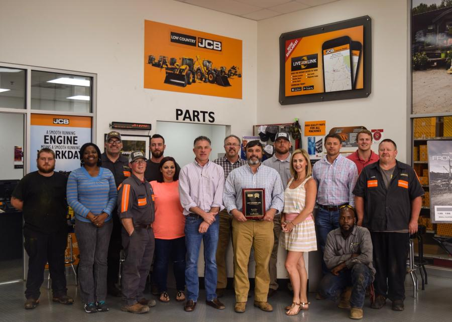 Some of the sales, parts and service staff at Low Country Machinery hold the JCB Dealer of Excellence award.