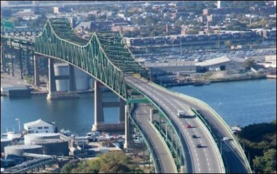 The Massachusetts Department of Transportation announced that traffic disruptions including lane closures began April 22 and continue during several construction seasons through 2020 as it makes repairs to the aging Tobin Bridge that carries U.S. 1 over the Mystic River between Boston's Charlestown neighborhood and Chelsea.