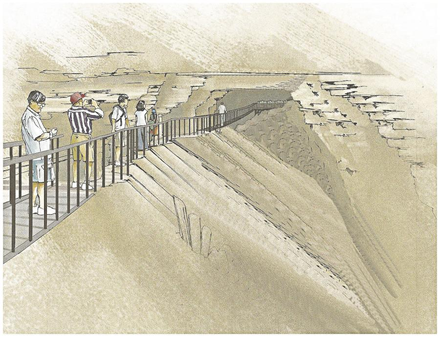A rendering of the swinging bridge. (Photo Credit: American Cave Conservation Association)