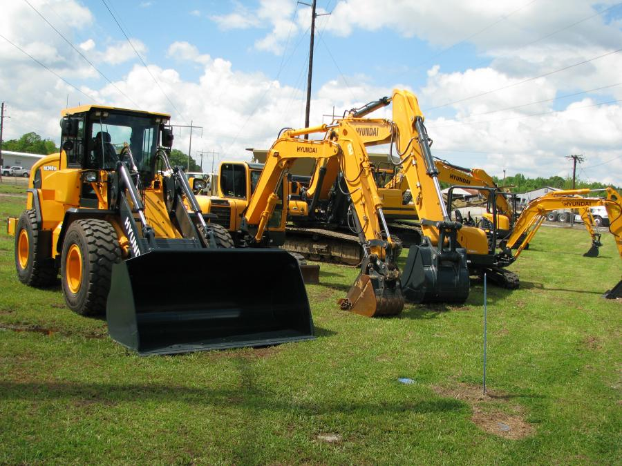 Stone Equipment Co. offers new 2018 Hyundai equipment in its Montgomery, Ala., equipment yard.