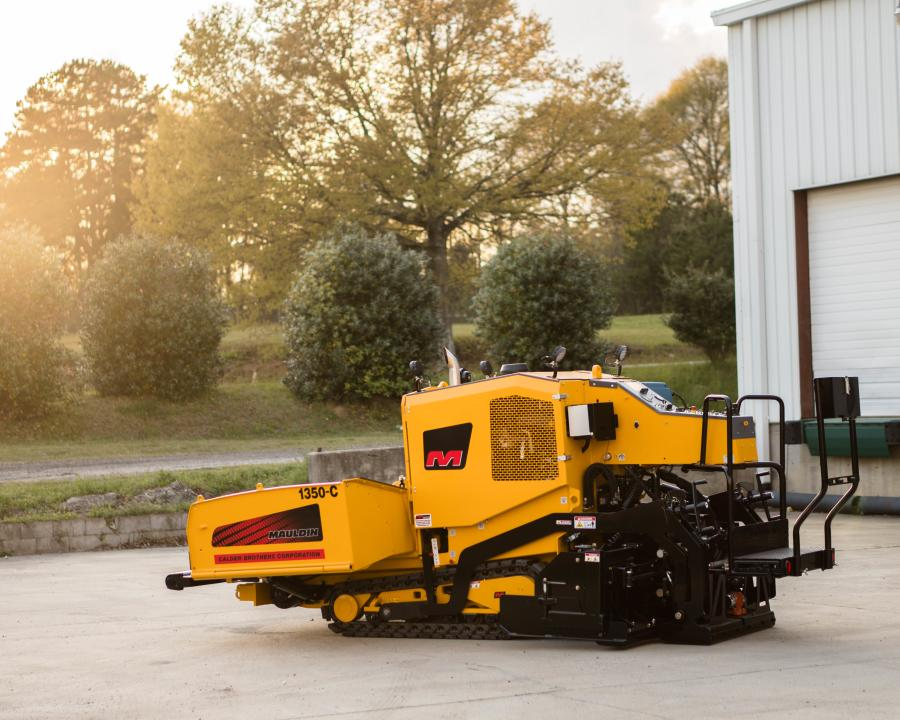 The Mauldin 1350-C paver has a standard working width of 4 to 8 ft. (1.2 to 2.4 m).