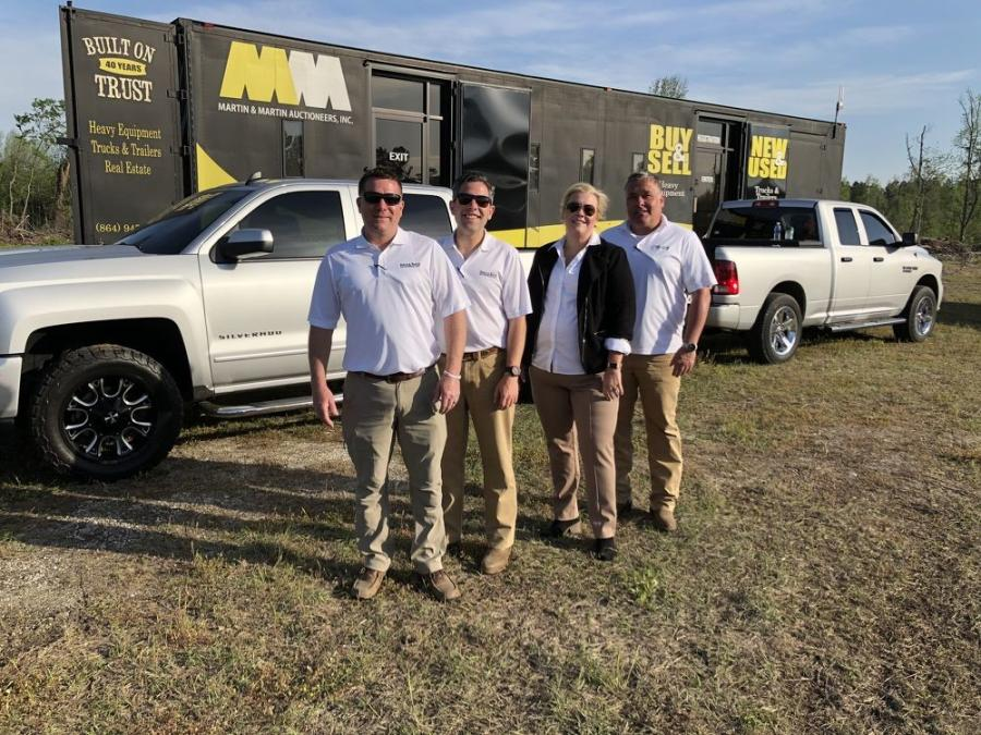 Part of the Martin & Martin Auctioneers team (L-R) includes Jason Smith, Jared McGaffee, Jennifer Upton and Matt McGaffee.