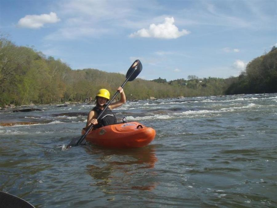 The state North Carolina Transportation Department is ensuring people can float in the French Broad River as engineers design a new bridge over the river. (rootsrated.com photo)