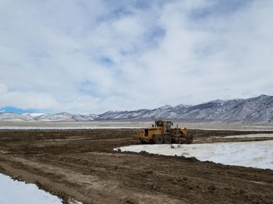 Initial ground clearing at Relief Canyon.
