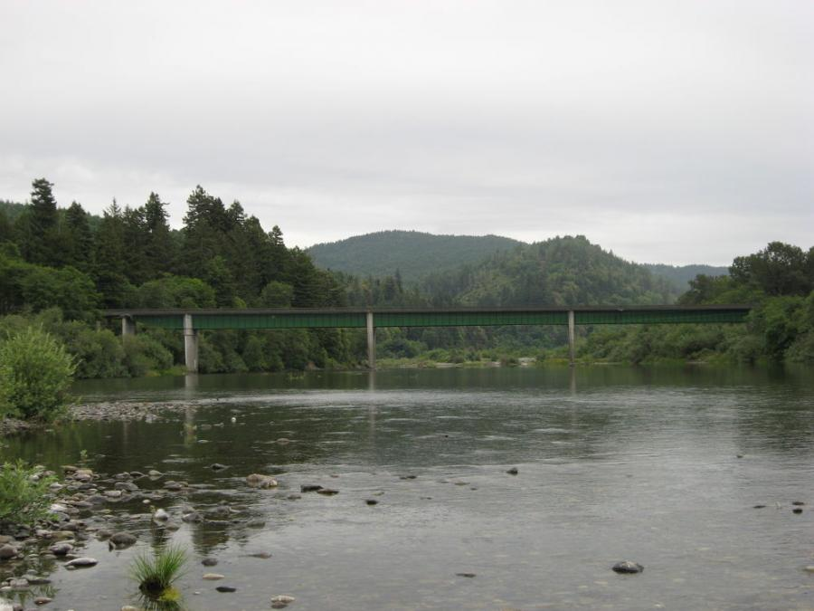 The final designs for the Dr. Fine Bridge replacement over Smith River north of Crescent City are due by the year's end with construction set to begin in September 2019.