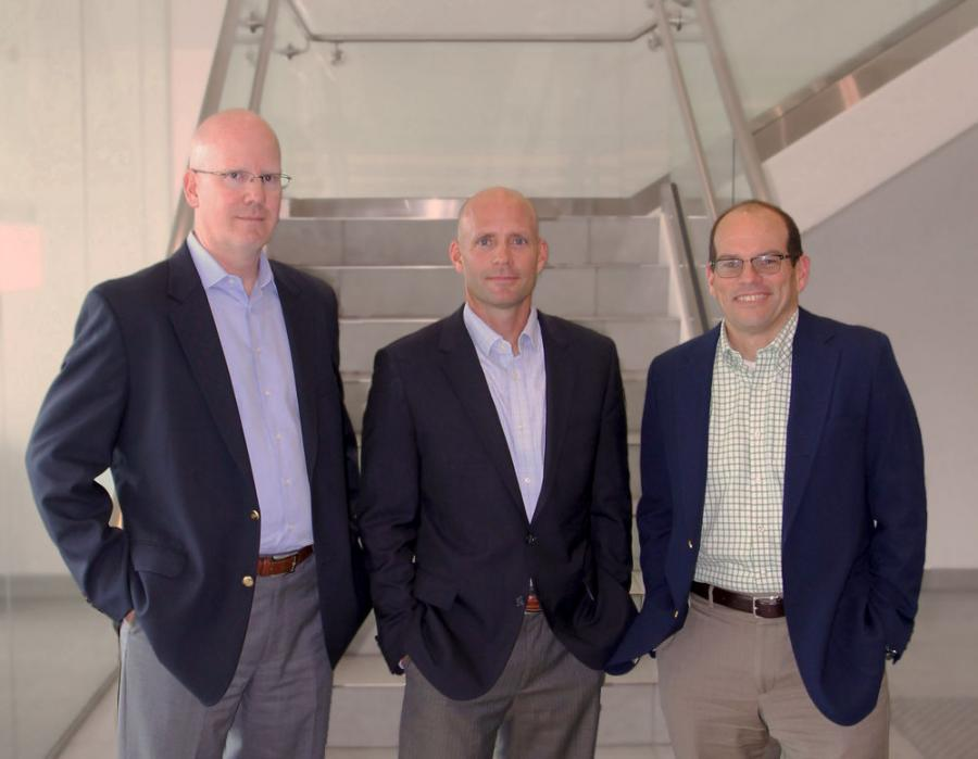 Manitou North America's new executives are (L-R) Todd Miorin, Jeffrey Weido and Don Vollmer.