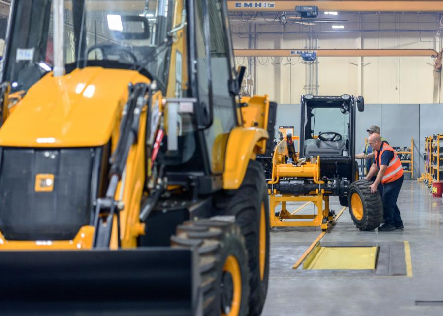 JCB is installing a new production line for the popular 505-20TC telehandler at JCB North America headquarters near Savannah, Ga.