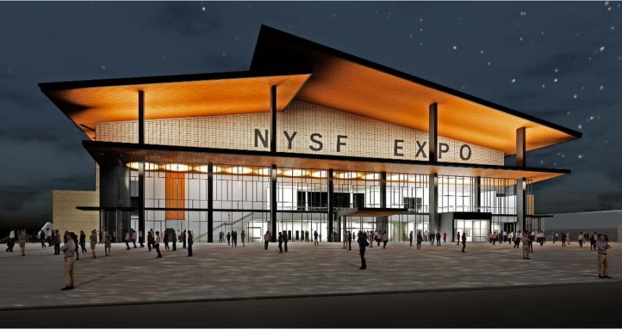 The architectural rendering of the expo center. (nysfair.ny.gov photo)