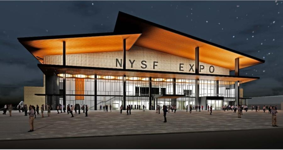 The architectural rendering of the expo center.