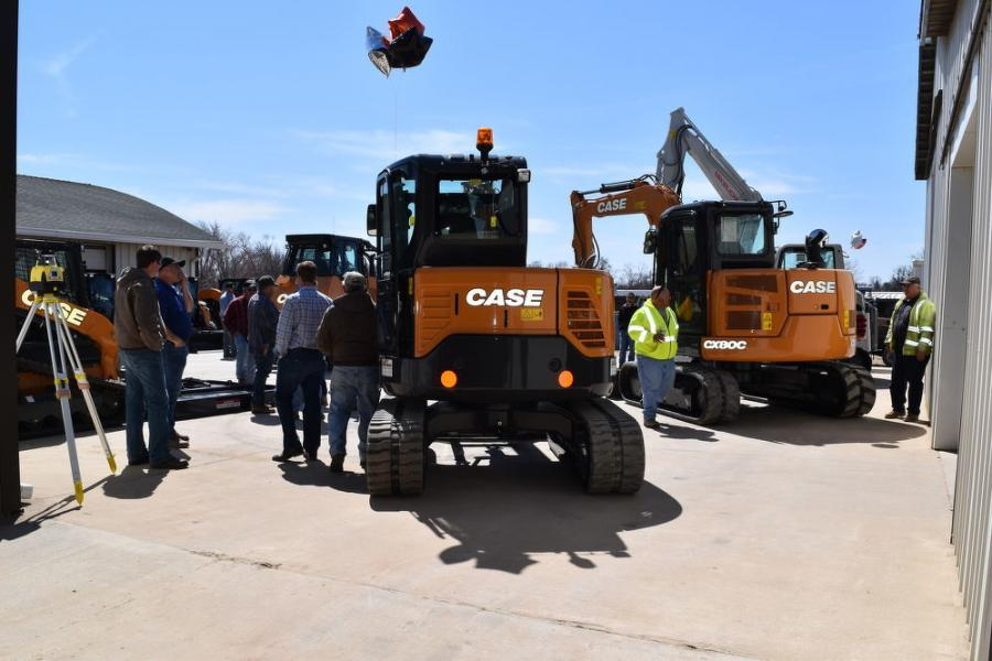 The open house event consisted of a catered lunch from Bros BBQ, various door prizes from Case, Takeuchi, Eager Beaver Trailers  and Virnig Attachments, and a Yeti Cooler giveaway.