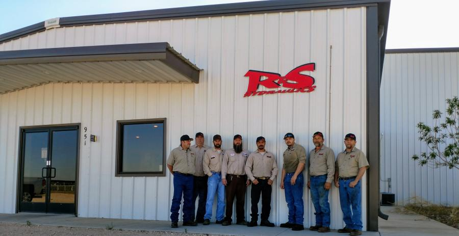 (L-R) are Glenn Reeves (service manager); Larry Smith (welding & fab); Steve Reeves (owner); Garry Harris (parts); Leroy Salinas (service); Andy Garcia (service); Harold Hill (service); and Brian Jue (welding & fab).