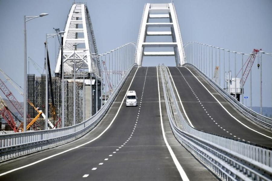 The car portion of the Kerch Strait Bridge, which holds the title of Europe's Longest Bridge, was completed six months ahead of schedule, New Hampshire Public Radio reported.
