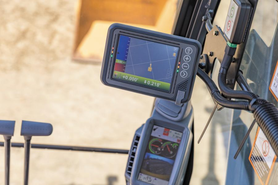 The grade guidance system provides operators with information on the bucket's location with respect to a 2D reference or 3D design surface and is ideal for digging trenches for pipe, shaping ditches or slopes, or digging structure foundations, according to the manufacturer.