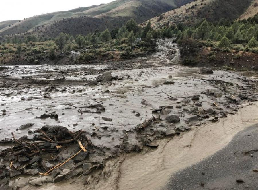 Two massive mudslides occurred May 21, 2018.
