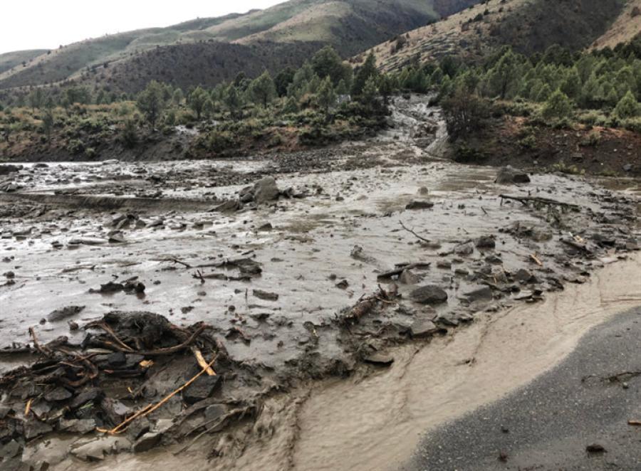 Two massive mudslides occurred May 21, 2018. (Nevada Highway Patrol photo)