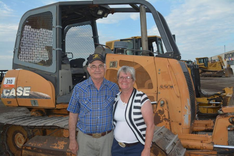Jearle and Tammy Nichols operate Nichols Equipment in Yellville, Ark. They were shopping dozers like this Case 85K at Ritchie Bros.' Fort Worth sale.