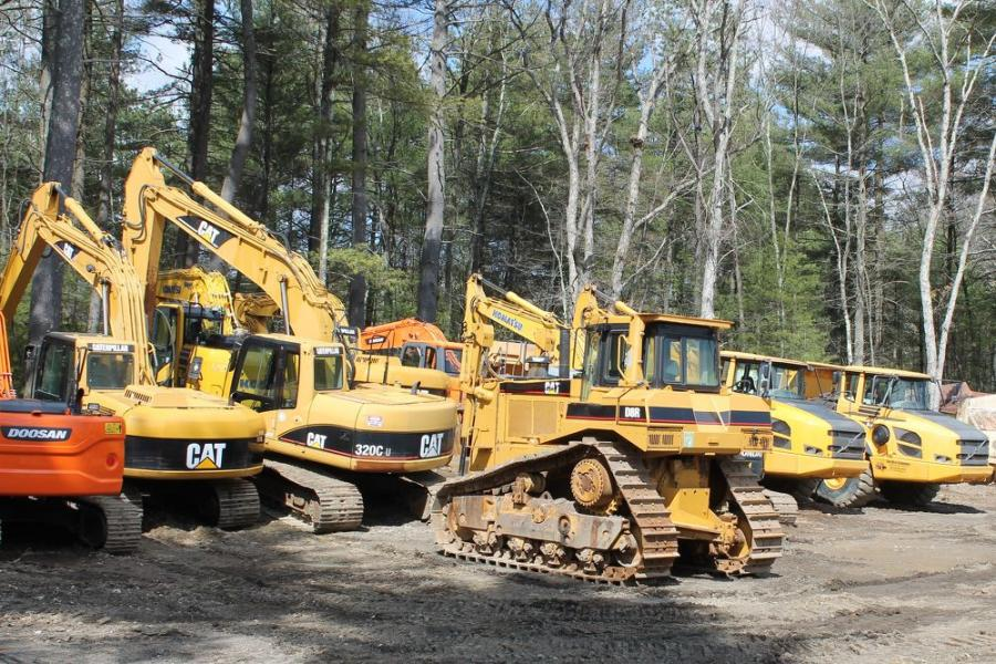 The new fleet additions include a Caterpillar D8R dozer, Volvo articulated trucks; lightly used Komatsu, Doosan, and Caterpillar excavators; and skid steers, hammers and other attachments.