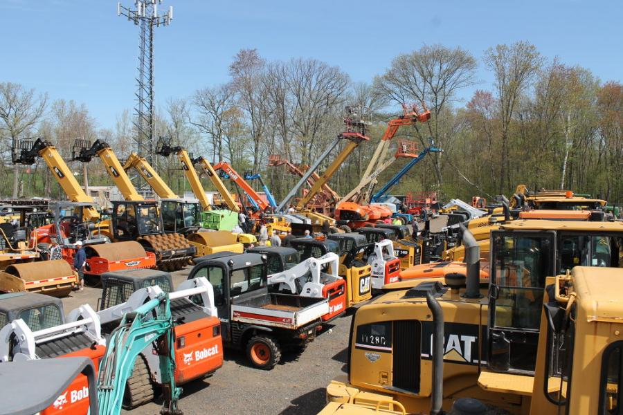 The auction featured an extensive roster of equipment, including lifts, dump trucks, loaders, dozers, backhoes, skid steers, excavators, parts, tools, work trucks and more.