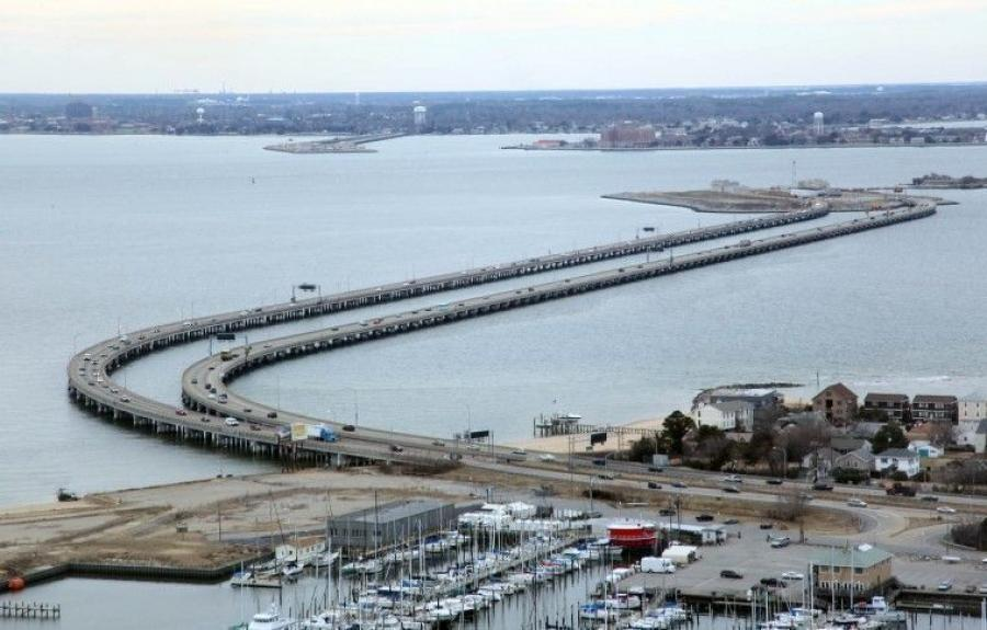Construction on the Hampton Roads Bridge-Tunnel is set to begin in 2020 and finish in 2024.(Ross Taylor/The Virginian-Pilot photo)