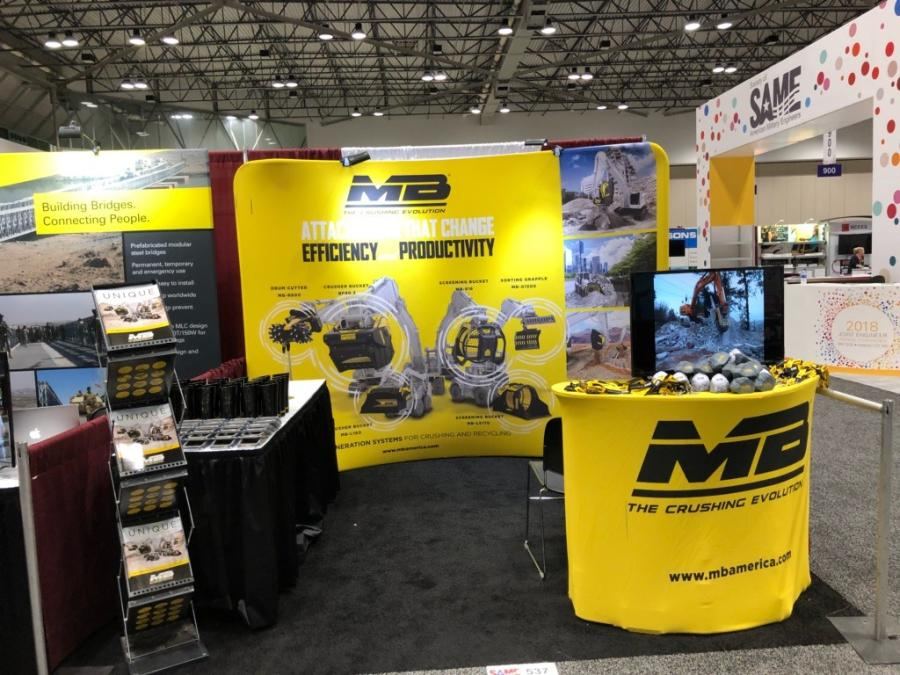 Now into its fourth exhibition year, MB Crusher America Inc. is once again building connections with the Society of American Military Engineers (SAME) at its event, Joint Engineer Training Conference & Expo (JETC) 2018.