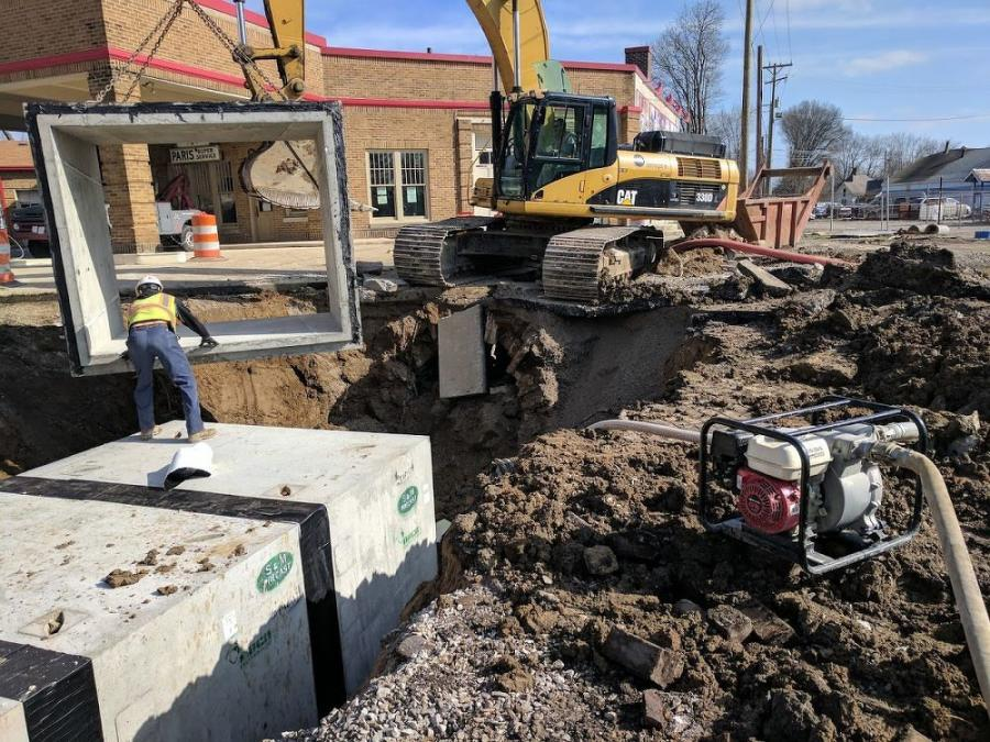 All of the machines being used on this project are owned by Dave O'Mara Construction Inc. (Brad Stahley of Crossroads Engineering  photo)
