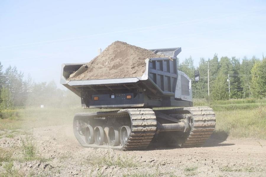 The Prinoth Panther T14R-Rotating Dumper.