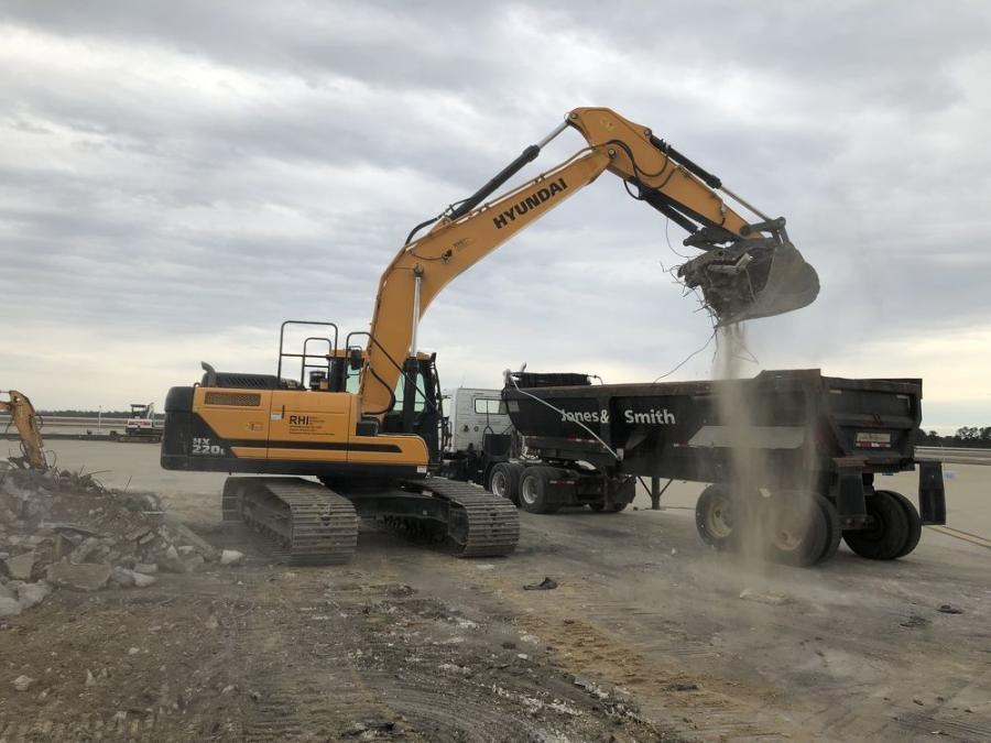 One of Jones & Smith Contractors' five Hyundai excavators.