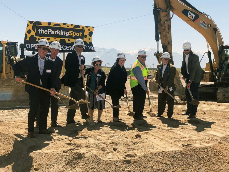 Officials break ground on The Parking Spot's first parking facility in Utah.